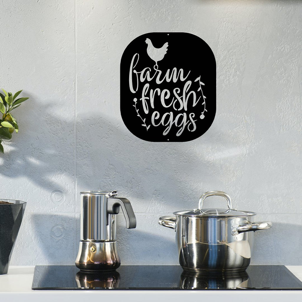 Steel Roots Decor Wall Decor Farm Fresh Eggs