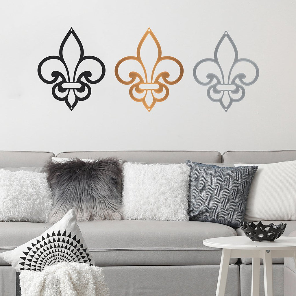 Steel Roots Decor Wall Decor fleur de lis