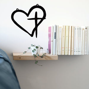 Steel Roots Decor Wall Decor Heart Cross