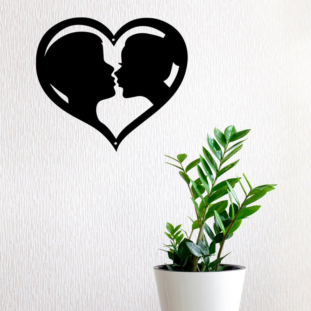 Steel Roots Decor Wall Decor Kissing Heart