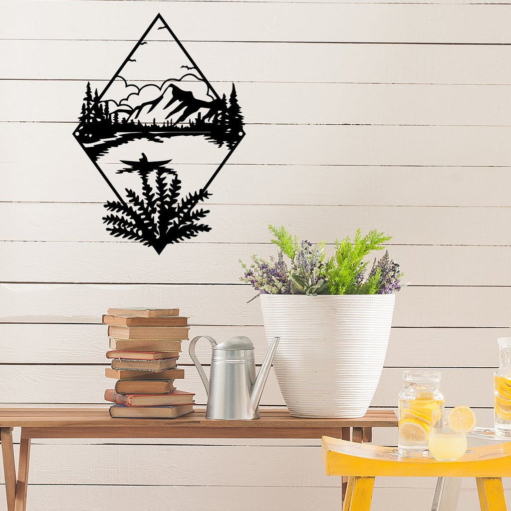 Steel Roots Decor Wall Decor Lake Scene