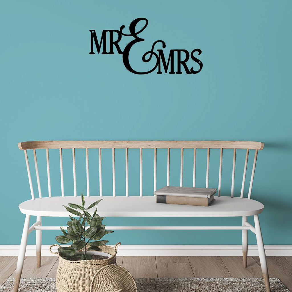 Steel Roots Decor Wall Decor Mr and Mrs