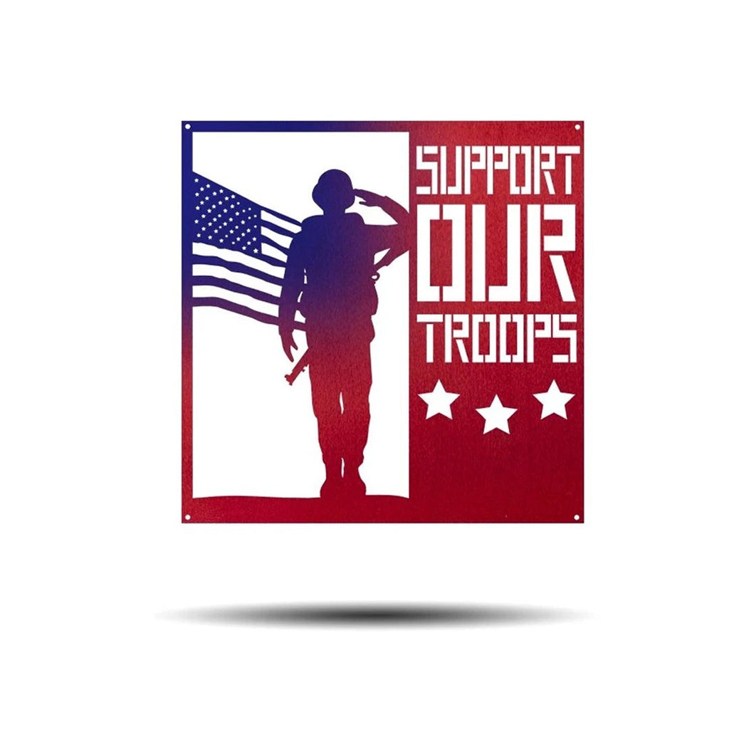 Steel Roots Decor Wall Decor Support Our Troops - Americana