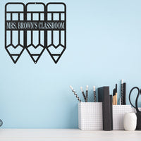 Steel Roots Decor Wall Decor Teacher Monogram