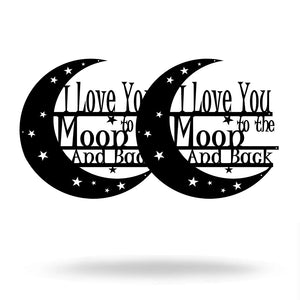 "SteelRootsShop Under 10 Black / 8"" 8"" I Love You to the Moon and Back (BOGO FREE)"