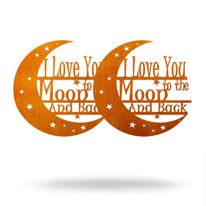 "SteelRootsShop Under 10 Copper / 8"" 8"" I Love You to the Moon and Back (BOGO FREE)"