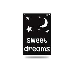 "SteelRootsShop Wall Decor Black / 12"" ""Sweet Dreams"""