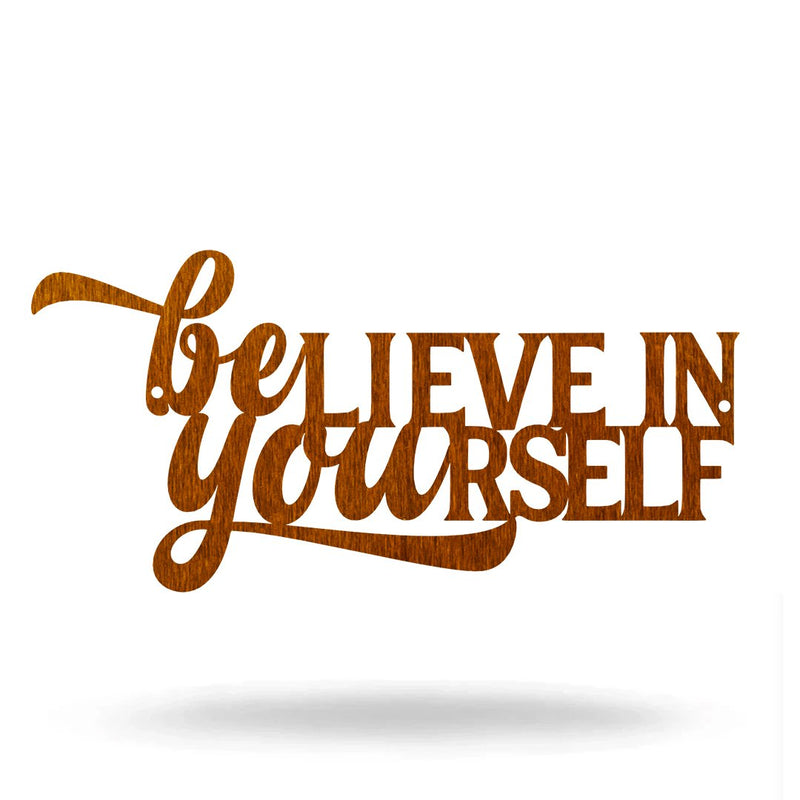 "SteelRootsShop Wall Decor Copper / 12"" Believe in Yourself"