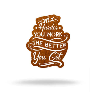 "SteelRootsShop Wall Decor Copper / 12"" Harder You Work"