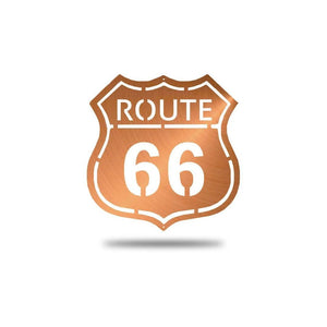 SteelRootsShop Wall Decor Copper Route 66 Road Sign