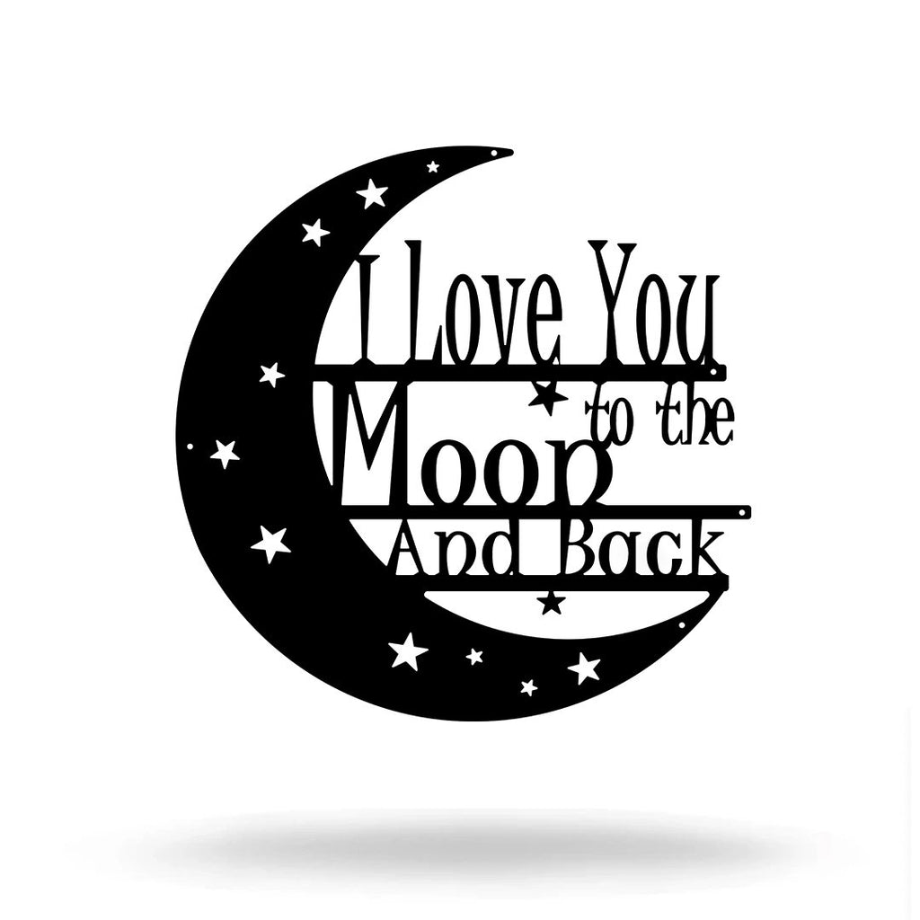 "SteelRootsShop Wall Decor ""I Love You to the Moon and Back"" 8"""