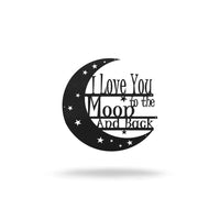 "SteelRootsShop Wall Decor Moon and Back / 8"" / Black Steel Roots Assorted 8"" Signs"