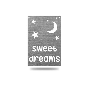 "SteelRootsShop Wall Decor Polished Charcoal / 12"" ""Sweet Dreams"""