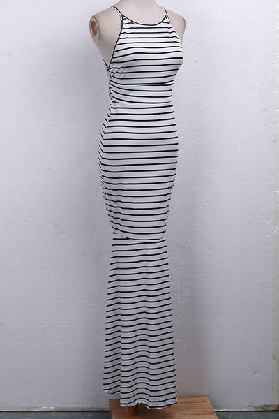 Striped backless Maxi