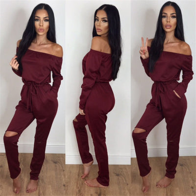 Longsleeve off shoulder Jumpsuit