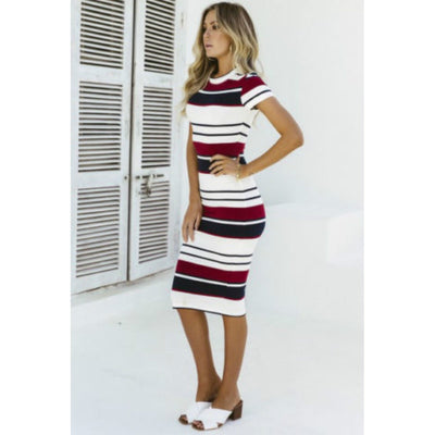 Stripe through prestiged dress