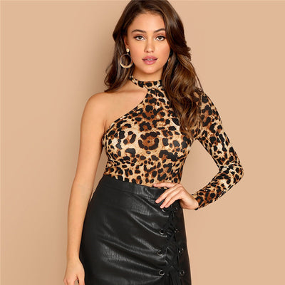 Leopard shoulder tee