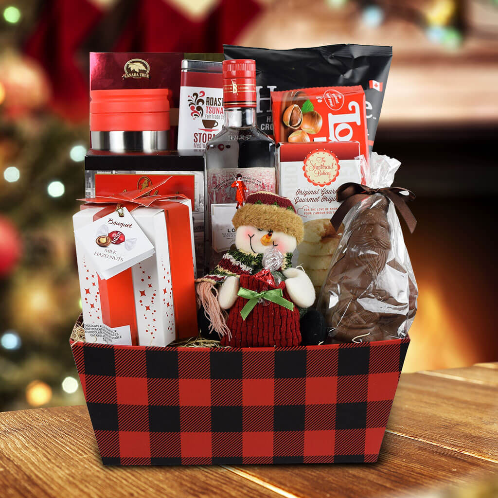 The Christmas Morning Gift Basket With Gin
