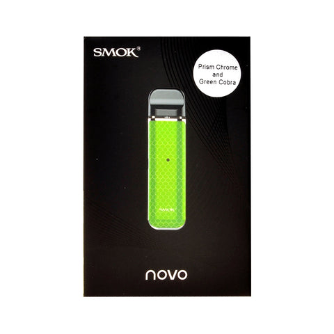 Smok Novo Starter Kit Prism Chrome and Green Cobra