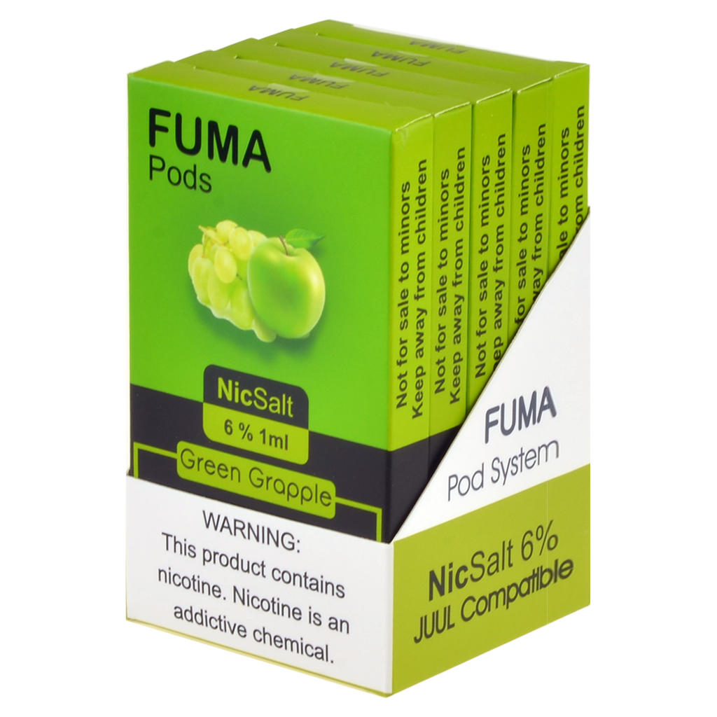 Fuma Green Grapple Pods Juul Compatible Ziip Stock