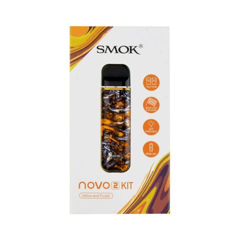 Smok Novo 2 Yellow and Purple Kit