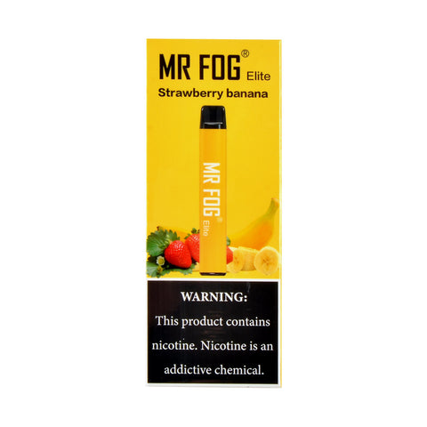 Mr Fog Elite Strawberry Banana Disposable Pen