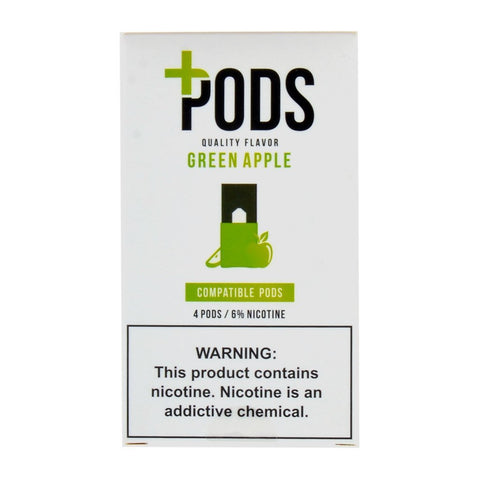 Plus Pods - Plus Pods Green Apple Pack of 4 - Drops of Vapor