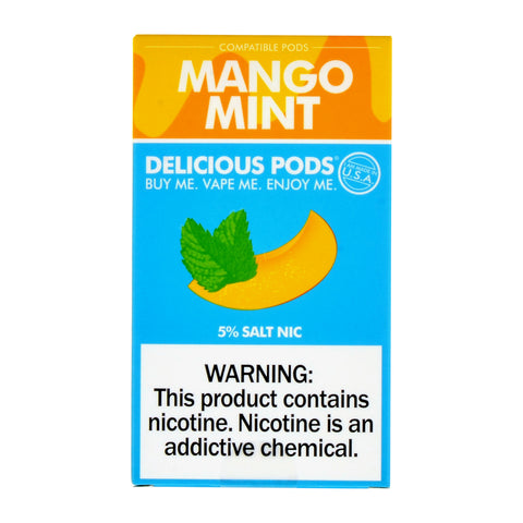 Delicious Pods Mango Mint Pack of 4