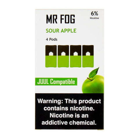 Mr Fog Sour Apple 4 Pods
