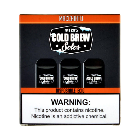 Nitro's Cold Brew Solos Macchiato Disposable E-Cig