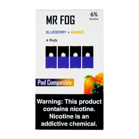 Mr Fog Blueberry Mango 4 Pods