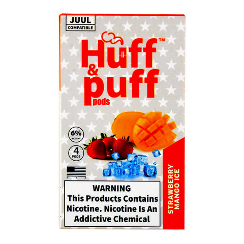 Huff & Puff Strawberry Mango Ice 4 Pods