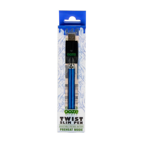 Ooze Blue Slim Pen Twist Battery