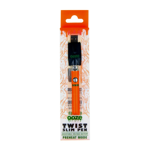 Ooze Orange Slim Pen Twist Battery