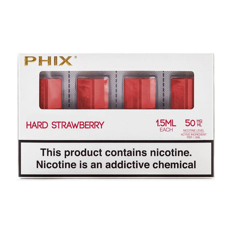 Phix Hard Strawberry 4 Pods