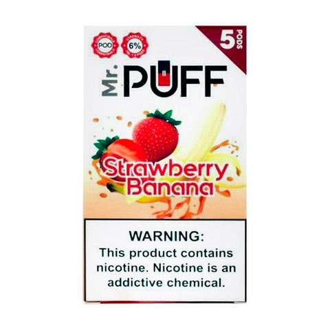 Mr Puff Strawberry Banana 5 Pods