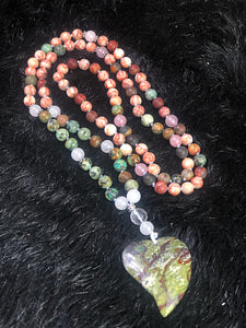 Tree Agate, Mixed Jasper & Dragons Blood Mala