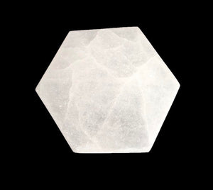 Hexagon Selenite Charging Plate | Dinsmore Originals - metaphysical jewelry, spiritual cleansing supplies, genuine healing crystals