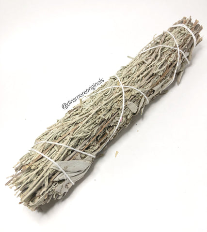 Blue & White Sage Smudge Wand
