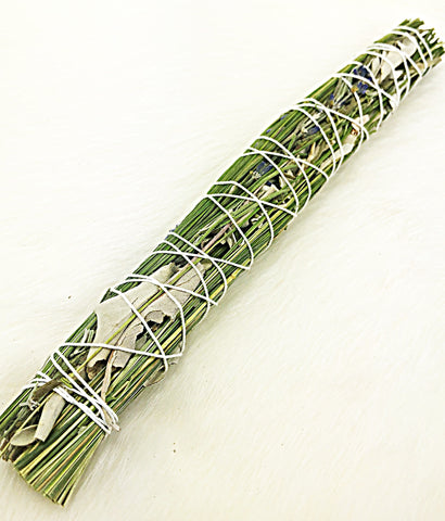 Sweetgrass, White Sage & Lavender Smudge Wand