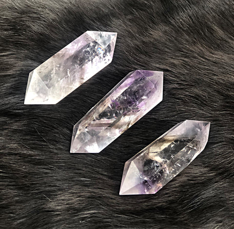 Small Elestial Amethyst Double Terminated Wand | Dinsmore Originals - metaphysical jewelry, spiritual cleansing supplies, genuine healing crystals