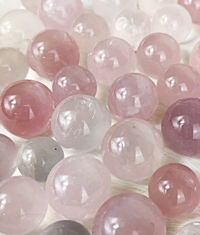 Rose Quartz Sphere | Dinsmore Originals - metaphysical jewelry, spiritual cleansing supplies, genuine healing crystals