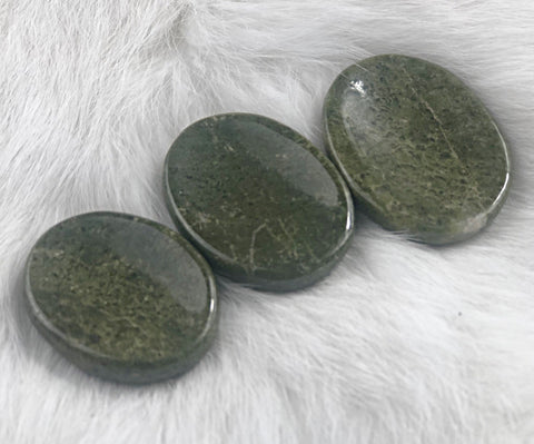 Vesuvianite Worry Stone | Dinsmore Originals - metaphysical jewelry, spiritual cleansing supplies, genuine healing crystals