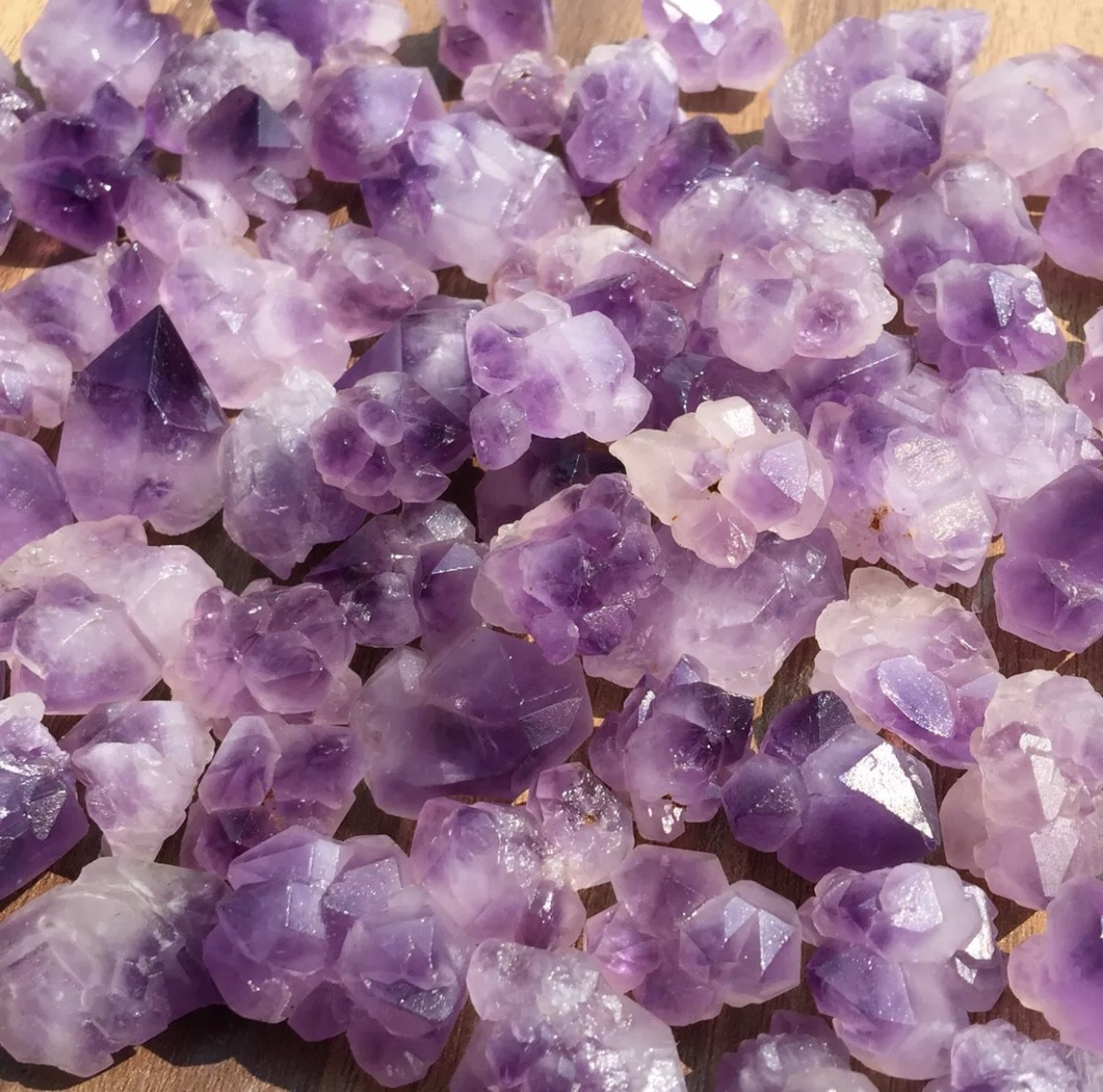 "10 pieces- Amethyst ""Flowers"" Or Cluster Points- 10pieces"