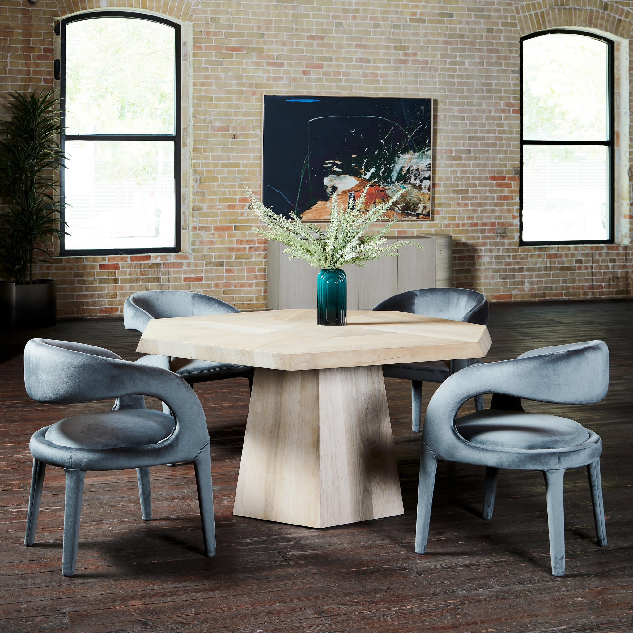 "60"" Octagon Round Dining Table"