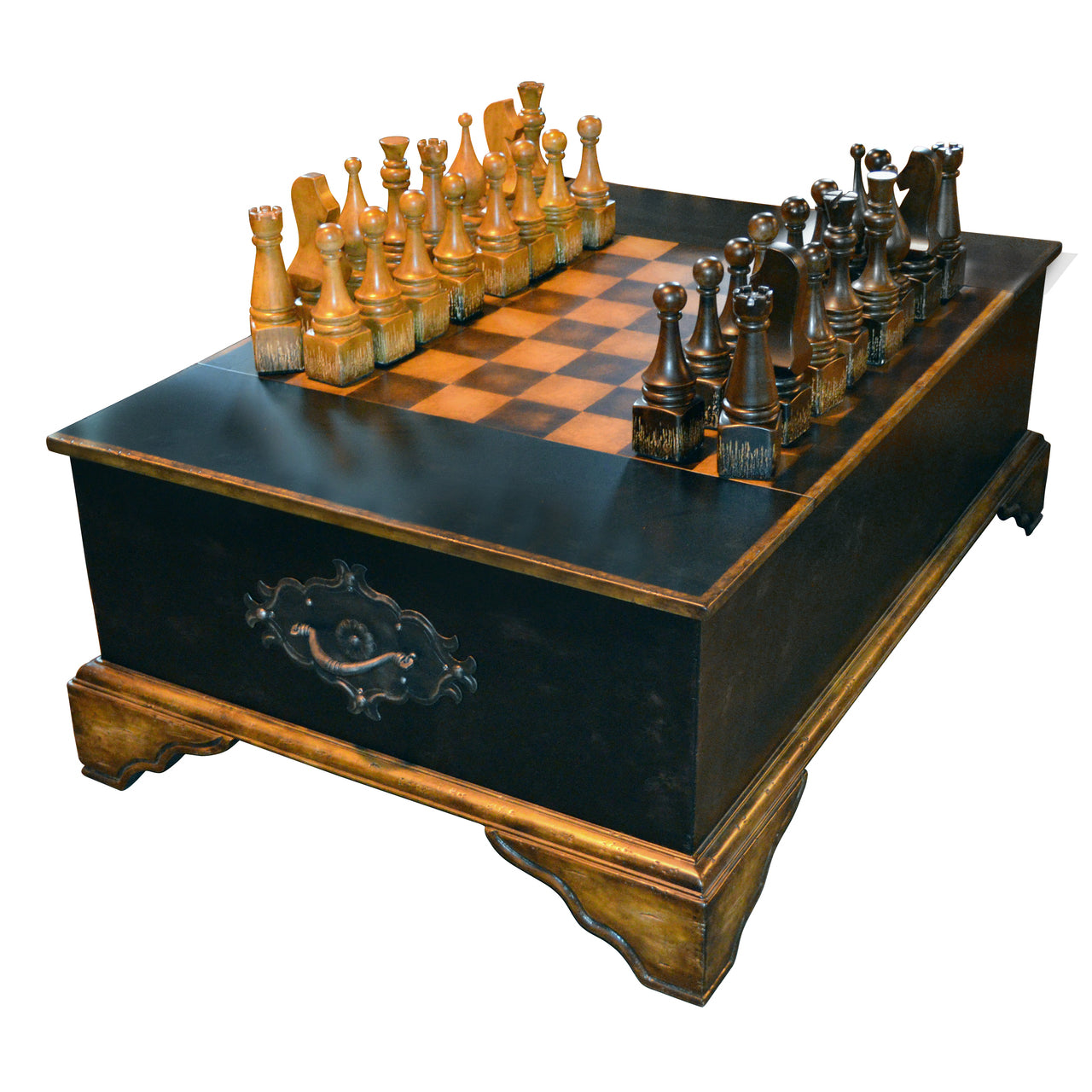 Large Chess Set Coffee Table