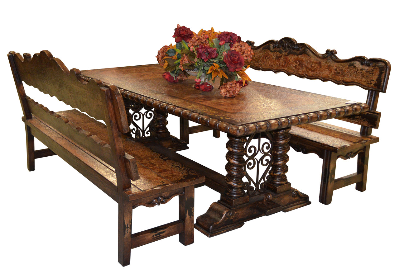 Mediterranean Bench Dining 3 pc Set