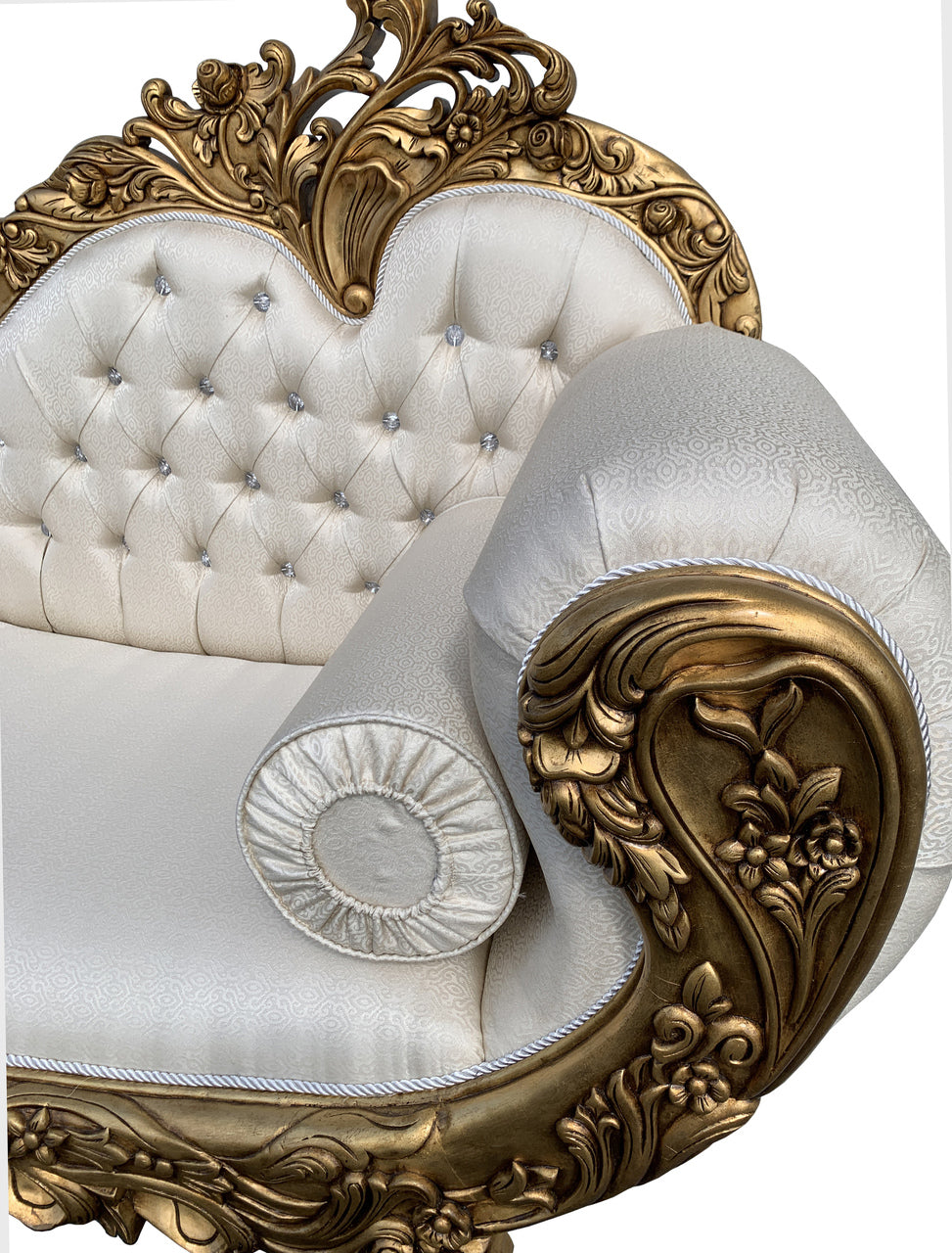 Hollywood Rococo Chaise Lounge Gold Gilt