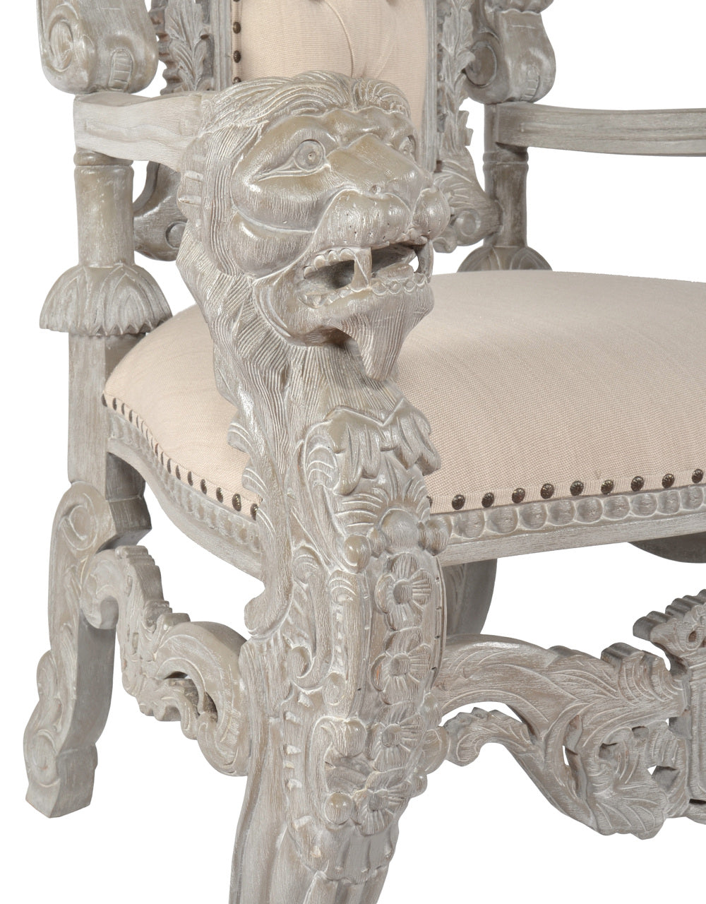Hand carved Royal King Lion Chair