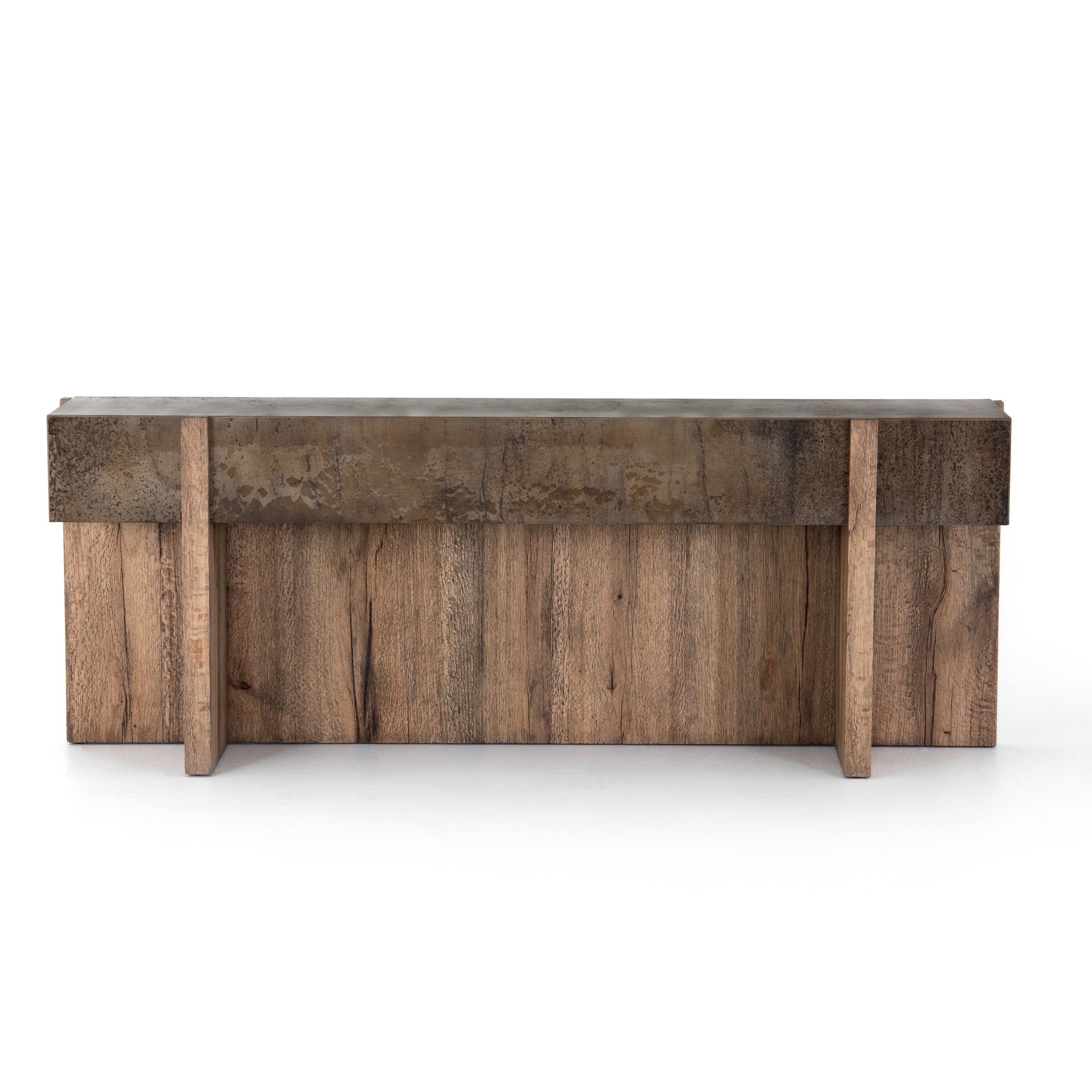 Organic Modern Rustic Oak Console Table